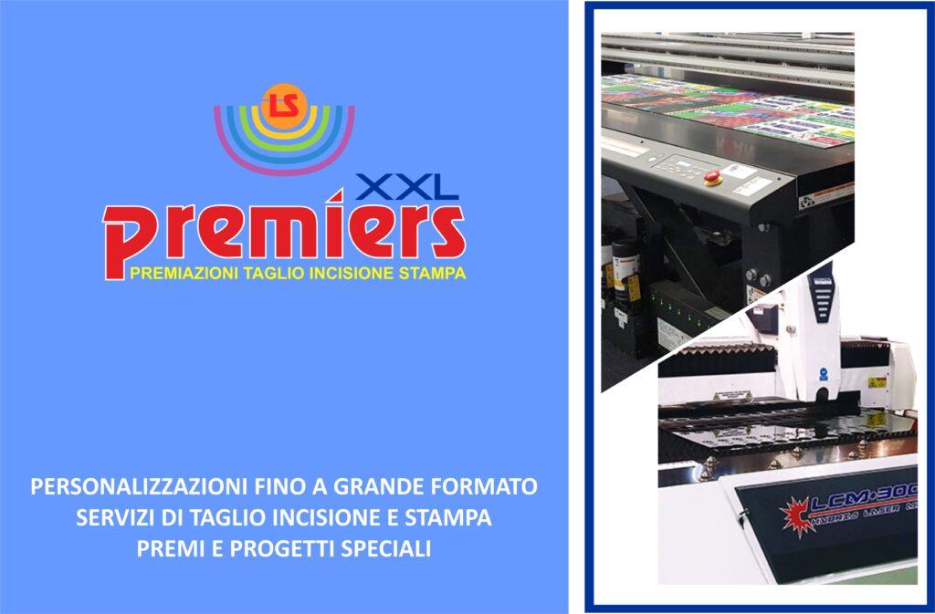 Premiers XXL è il reparto di stampa, incisione e taglio laser fino a grande formato